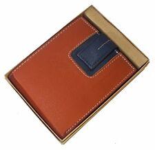 Men Leather Wallet Pocket Coin Card Money Holder Clutch Bifold Slim Purse Orange