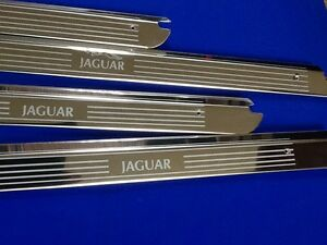 jaguar xj6 swb door sills tread plates stainless etched Logo kick panels xj6