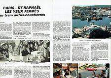 Publicité Advertising 068  1981   SNCF train auto  (2pa)  Paris- Saint Raphael