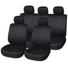 Chiswick 9PCE Full Set of Black Seat Covers for Skoda Fabia Octavia Superb Rapid