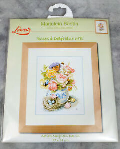 Lanarte Marjolein Bastin Collection Roses and Delftblue MB Cross-Stitch New