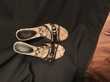 NIB COACH KAMILAH KHAKI Sig Fabric Women's Shoes Sz 8.0