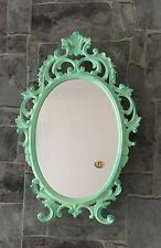 Espejo de pared verde antiguo Menta OVALADO 43x27 maquillaje bad-friseurspiegel