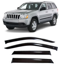For Jeep Grand Cherokee 05-10 Window Side Visors Sun Rain Guard Vent Deflectors
