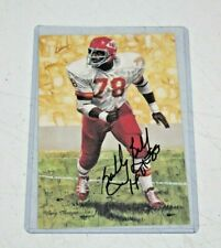 Bobby Bell Signed Kansas City Chiefs HOF NFL Goal Line Art Card JSA GLAC 3