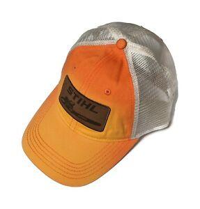 STIHL Washed Orange Twill And Mesh Cap / Hat