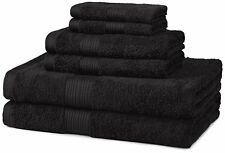 Black Bath Towels Towel Set Bathroom Washcloths 100% Cotton Soft Fade-resistant