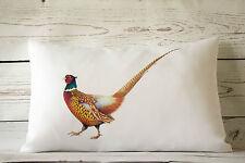 "Pheasant - 12 x 18 "" lumbar style cushion cover shabby vintage Rural chic"