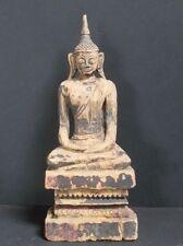 Ancien Bouddha LANNA en Bois massif THAILANDE