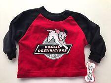 Disney 102 Dalmatians Doggie Destinations Sweatshirt 12 mos Red Black New