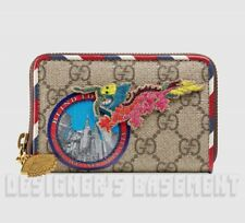 56e2221aa4d GUCCI dragon COURRIER GG Supreme Canvas Leather POUCH Mini wallet NIB Auth   460!