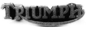NEW LARGE SUPERB QUALITY TRIUMPH MOTORCYCLE PIN BIKER BADGE