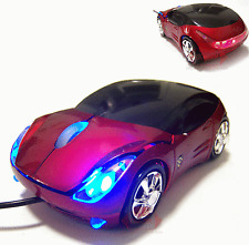 New 3D USB Optical Red Mouse Car Shape For PC Computer Laptop #150