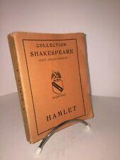 Hamlet par Shakespeare.Les Belles Lettres Bilingue 1936
