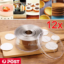 1 Set Of Round Stainless Steel Cake Biscuit Cookie Dough Cutter Mold Baking Tool