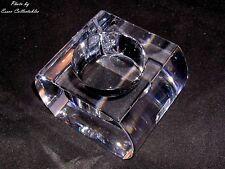 Kenneth Turner Crystal Glass Votive Tealight candle holder original Sticker OOP