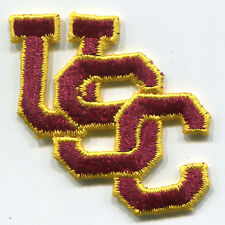 "USC TROJANS NCAA COLLEGE 2"" INTERLOCKED LETTERS LOGO TEAM PATCH VERSION 1"