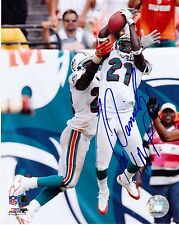 Travis Daniels Miami Dolphins 1St Interception Action Signed 8x10