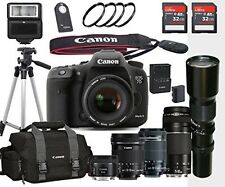 Canon EOS 7D Mark II - (5) Lens Bundle with Canon EF-S 18-55mm f/3.5-5.6 IS STM