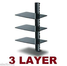 3 LAYER SHELF HD TV COMPONENT WALL MOUNT BRACKET LCD PS3 PS4 XBOX BLUE-RAY LED