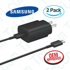 2x OEM Samsung Galaxy Note 10 Plus 25W USB-C Fast Wall Charger & Typc-C Cable