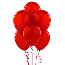 "72 Latex Balloons 12"" With Clips and Curling Ribbon-Red"
