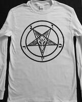 PENTAGRAM Long Sleeve T shirt HALLOWEEN Costume Satanic Clothing witchcraft S-XL
