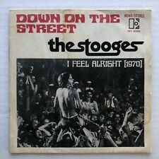 """THE STOOGES Down On The Street 1970 FRANCE 7"""" PUNK 45 + Picture Sleeve IGGY POP"""