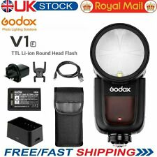 Godox V1F V1-F 2.4G TTL 1/8000s HSS Round Head Battery Speedlite Flash for Fuji