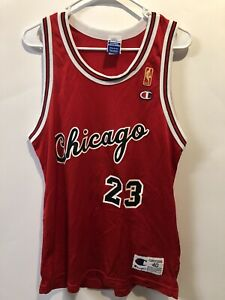 Vtg Michael Jordan Chicago Bulls 🏀NBA🏀Champion rookie gold label jersey -sz 40