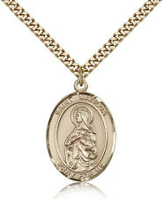 """Saint Matilda Medal For Men - Gold Filled Necklace On 24"""" Chain - 30 Day Mone..."""