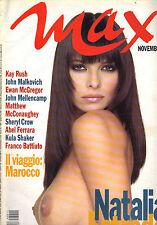 Rivista Max Novembre 1996  n° 11 Natalia Estrada -  R.C.S.