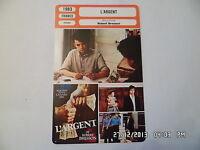 CARTE FICHE CINEMA 1983 L'ARGENT Christian Patey Caroline Lang Vincent Risterucc