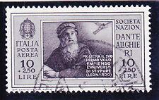 REGNO 1932 DANTE PA  10 LIRE+2,50L   1 VAL. USATO SPLENDIDO