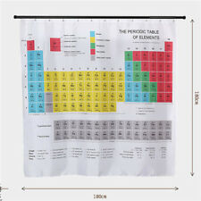 Periodic Table of Elements Bathroom Waterproof 3D Print Show Curtains YO