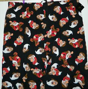 NWT Disney GRUMPY DWARF Snow White men's Black Cotton Pajama Lounge PANTS* 5XLT