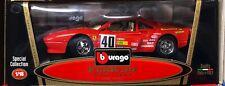 FERRARI 288 GTO RALLY RACE CAR #40 RED 1:18 by BURAGO RARE OLD MODEL NEW IN BOX