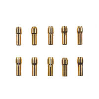 10x 4.8mm Brass Chuck Collet Drill Bit Fit for Dremel Rotary Tool Nut