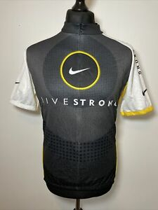 Nike Livestrong Live Strong Lance Armstrong Cycling Jersey Shirt Short Sleeve XL