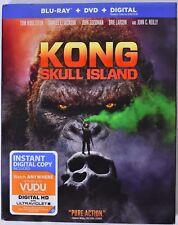 KONG: SKULL ISLAND Blu-Ray + DVD + Digital >NEW< With Slipcover
