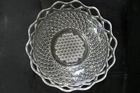 """Crystal Clear Glass Art Decorated Candy Dish 10"""" Bowl"""