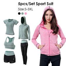Women Gym Fitness Workout Sport Suit Leggings Shorts Top Vest Bra Pants Yoga Set