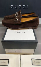 Gucci Suede Slip On Loafer In Brown Size 8.5 UK Brand New Boxed Made In Italy