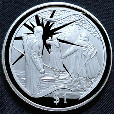 2003 New Zealand Silver Proof $1 Lord of the Rings Gandalf Reappears