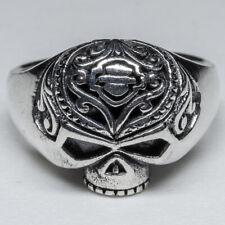 Skull Ring Harley Biker Logo 925 silver Ring Celtic Biker feeanddave
