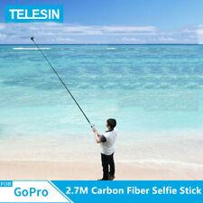 Telesin 106 inch Extra Long Carbon Fiber Selfie Stick For GoPro Hero 8 7 6 5 4