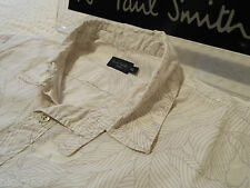 "PAUL SMITH Mens Shirt 🌍 Size XL (CHEST 42"") 🌎 RRP £95+ 🌏 FLORAL LEAF OUTLINES"