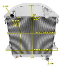 "1917 - 1927 T-Bucket W/ Chevy Configuration 2 Row 1"" Champion Aluminum Radiator"