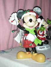 GENUINE DISNEY MICKEY MOUSE LIGHTED TIMER CHRISTMAS SEASON STATUE BRAND NEW BOX.
