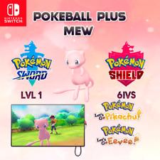 Mew 6 IVS -  Pokemon Sword and Shield | Let's Go Pikachu & Eevee | Pokeball Plus